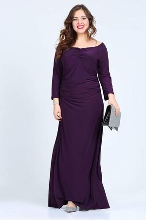 Mangolino Dress - OUTLET KL6232 Mor Abiye Elbise (1)