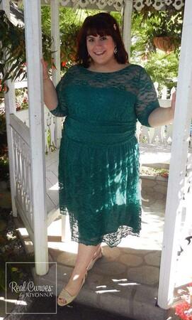 Angelino Style - Kiyonna Marka Likralı Yeşil Elbise (1)