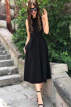 Angelino Style - KL777e ELBİSE Cepli Büyük Beden (1)