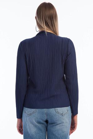 Angelino Fashion - KL880TRN Büyük Beden Kampanyalı Bluz (1)
