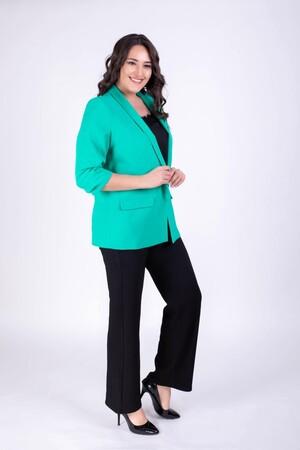 - Kolları Detaylı Yeşil Ceket (1)