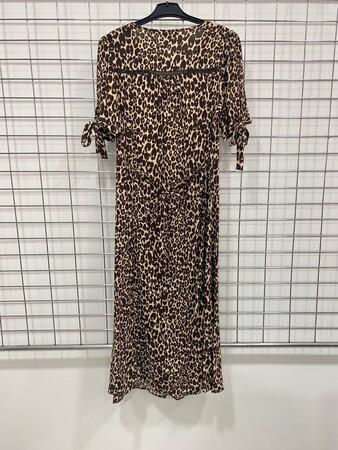 - Leopar Desenli Uzun Elbise (1)