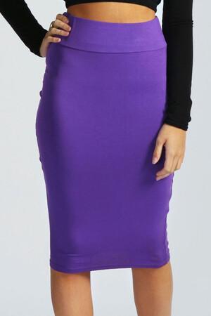 Mangolino Dress - MANGOLİNO DRESS MD01 Büyük Beden Abiye Etek 38-54 Mor (1)