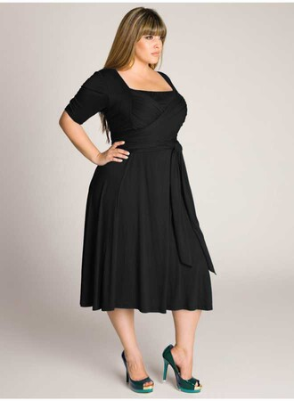 Mangolino Dress - MANGOLİNO DRESS MD64 Büyük Beden Abiye Elbise Siyah (1)