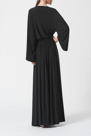 Mangolino Dress - MANGOLİNO DRESS MDIC78898 Büyük beden abiye Siyah (1)