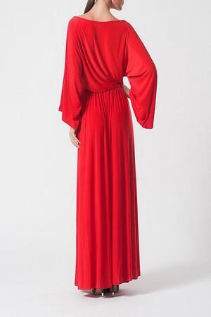 Mangolino Dress - MANGOLİNO DRESS MDIC78898 Büyük beden abiye Kırmızı (1)