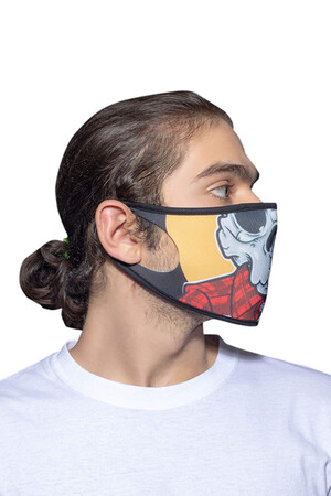 Angelino Butik - Maske Telli Yıkanabilir Biyeli US NO 27 (1)
