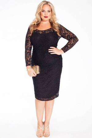 Mangolino Dress - MANGOLİNO DRESS MD15154 Büyük Beden Abiye Elbise Siyah (1)