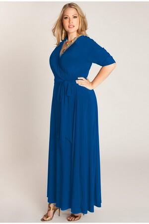Mangolino Dress - MANGOLİNO DRESS MD59 Büyük Beden Abiye Elbise 40-60 Sax (1)