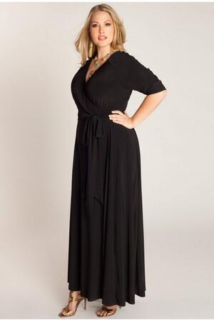 Mangolino Dress - MANGOLİNO DRESS MD59 Büyük Beden Abiye Elbise 40-60 Siyah (1)