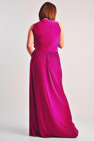 Mangolino Dress - MANGOLİNO DRESS MDW5089 Uzun Şık Büyük Beden Abiye Fuşya (1)