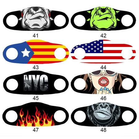 Angelino Butik - Moda Maske Amerika Bayrak Baskı No 44 Yıkanabilir Yetişkin Yüz Maskesi (1)