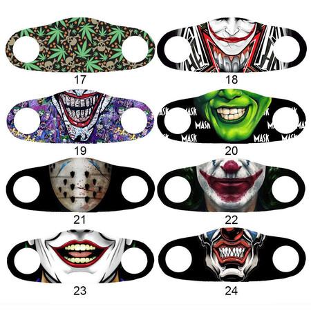 Angelino Butik - Moda Maske Kamuflaj Siyah Baskı No 55 Yıkanabilir Yetişkin Yüz Maskesi (1)