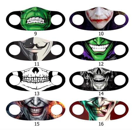 Angelino Butik - Moda Maske Kurukafa Baskı No 58 Yıkanabilir Yetişkin Yüz Maskesi (1)