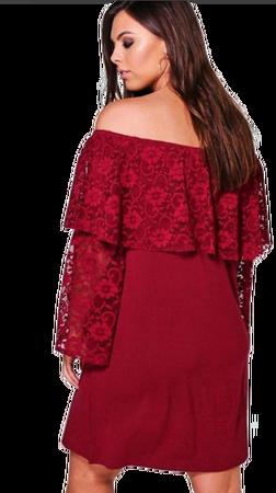 Angelino Style - Nht779 Dantel İşlmeli Büyük Beden Abiye elbise (1)