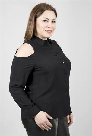 - Omuzları Açık Uzun Kollu Gömlek (1)