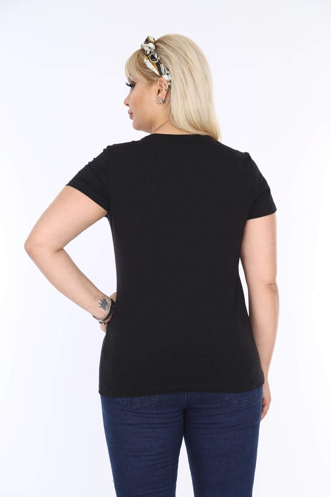 Penye Creata Simli Bluz Siyah FR304