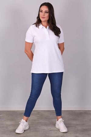 - Polo Yaka Kısa Kol Beyaz T-Shirt (1)