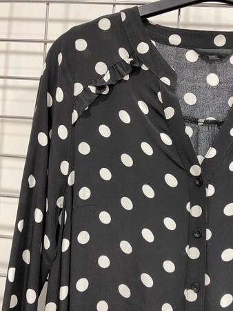 - Puanti Desen Uzun Elbise (1)