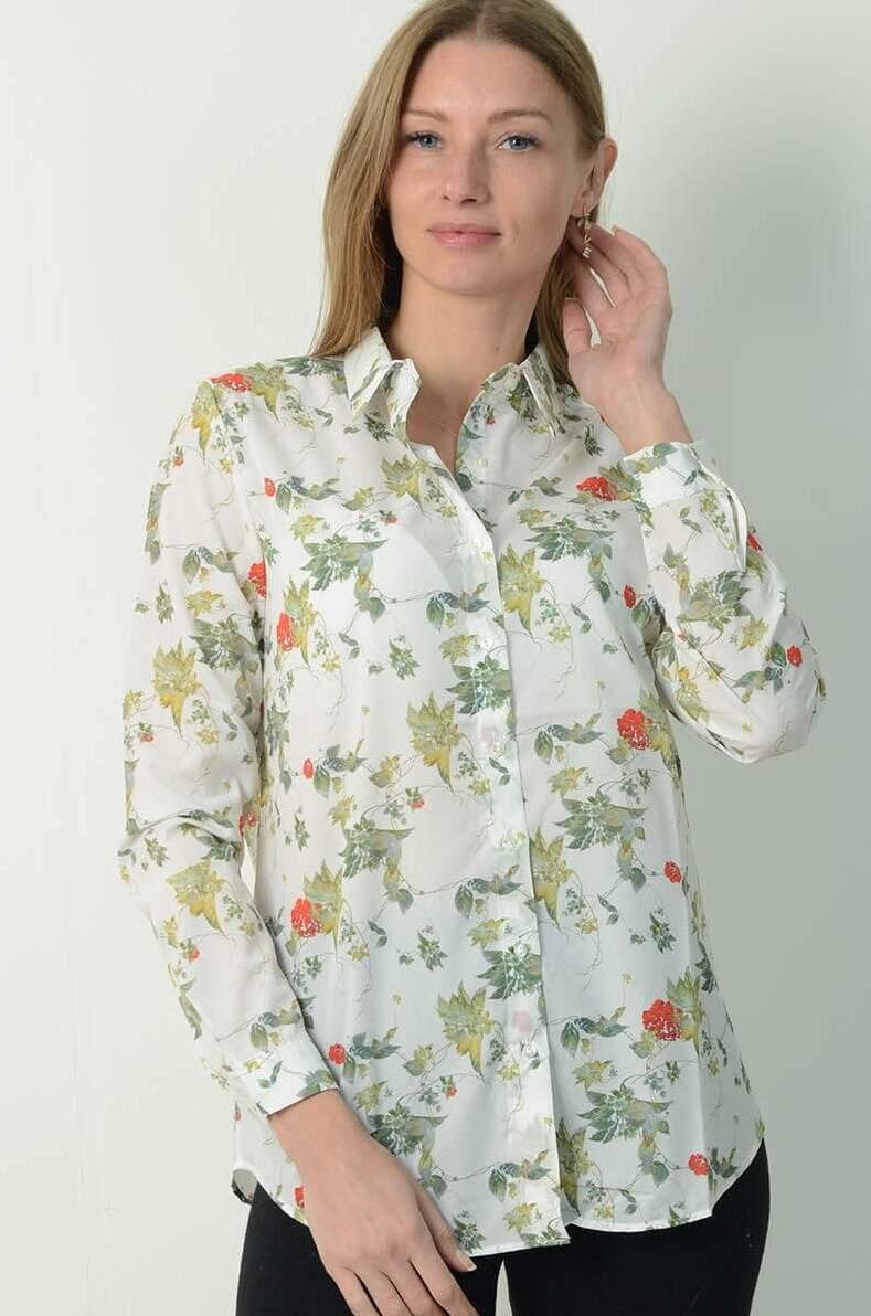 Sarmaşık Baskılı Gömlek 70179