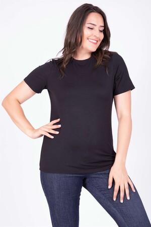- Sıfır Yaka Basic Tişört (1)