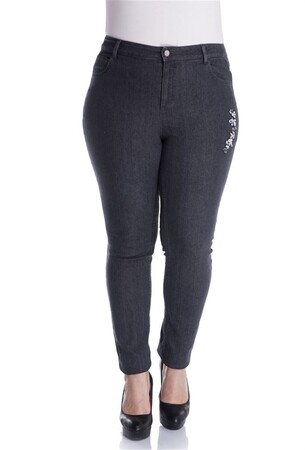 - Süs Taşlı 5 Cep Denim Pantolon (1)