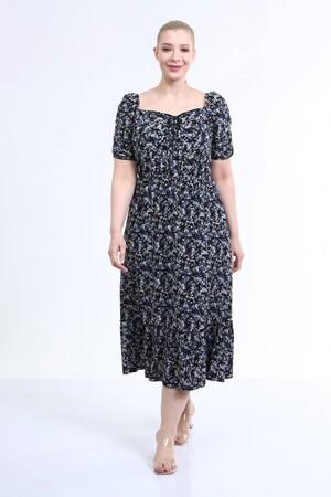 - Yaka Detaylı Prenses Kol Elbise (1)