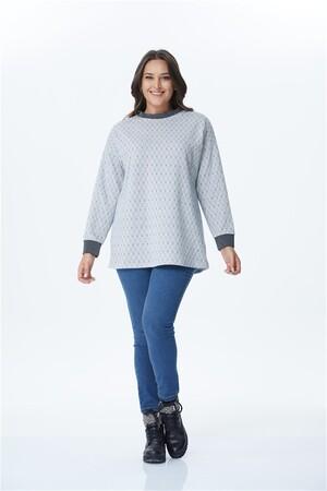 - Yaka Ve Kol Bantları Kontrast Sweatshirt (1)