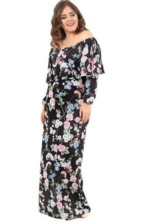 Angelino Style - Yakası Ayarlı Kollu Kolsuz Uzun Abiye Elbise DD779U-21 (1)